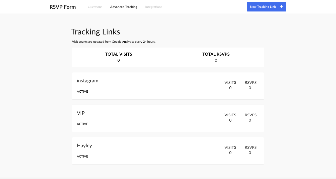 how do i measure an event campaign using tracking links splash